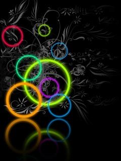 Абстрактные обои с разноцветными кругами для мобильников Нокия 6500